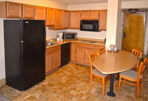 kitchenette in queen room