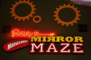 ripley's mirror maze sign