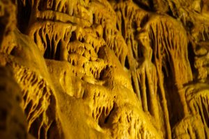 stalagmites and stalactites in a cave
