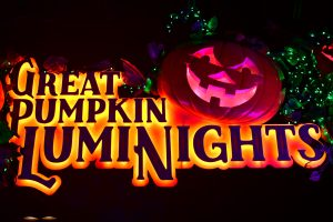 great pumpkin luminights sign with a jack o lantern